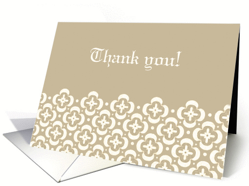 Thank you to Sister in Law for being Bridesmaid, Tan Design card