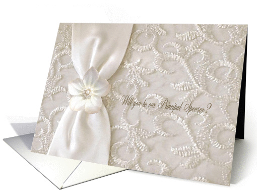 Pastel Flower, Will you be my Veil Sponsor? card (457768)