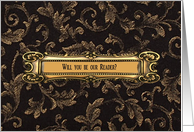 Brass on Brown, Will you be our Reader? card