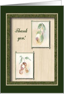 Cherries and Pear, Thank you, Thoughtfulness and Kindness card