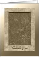 Sepia Roses, Thank you to the Veil Sponsor card