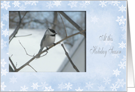 Chicadee in a tree / At this Holiday Season / Daughter-in-Law card