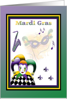 Mardi Gras Invitation card