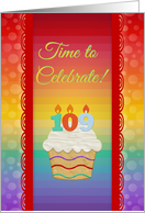 Time to Celebrate, 109 Years Old, Colorful Cupcake Invitations card