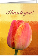 Peach Tulip, Thank you, Administrative Professionals Day card