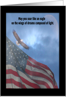 May you soar like an eagle on the wings, Memorial Day Invitation card