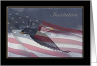 Invitation, Eagle Scout Award, Eagle Flying with Flag card