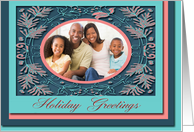 Holiday Greetings Photo Card, Berries and Leaves card