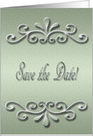 Save the Date, Pastel Green Dots card