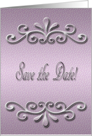 Save the Date, Pastel Pink Dots card
