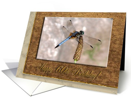 Dragonfly, Birthday Wishes, 60th card (790385)