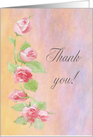 Thank you Mother from Bride, Pink Painted Roses card