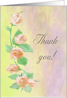 Thank you Mother from Bride, Peach Painted Roses card