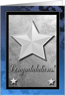 Congratulations on being Honored, Stars on Blue card