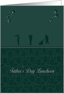 Father's Day Luncheon Invitations, Green Leaf Design card