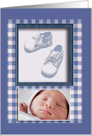 Photo Card, Baby Boy Blue Shoes card