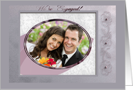 Photo Card, We're Engaged, Pink Dogwood Flowers card