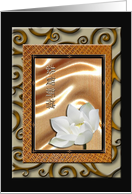 Happy New Year in Chinese, Lotus Flower card