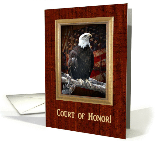 Court of Honor, Proud Bald, Eagle Scout Award Invitation card (916330)