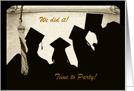 Tassel on Scroll and Graduates, Graduation Party, Gold card