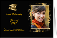 2020 Cap and Diploma Photo Card, Graduation Announcement, Gold & Black card