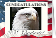 OCS Graduation Congratulations, Son, Eagle with Flag card
