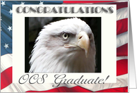 OCS Graduation Congratulations, Eagle with Flag card