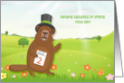 Groundhog Day, Spring Wishes card