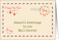 For Mail Carrier - Air Mail Envelope - Season's Greetings card