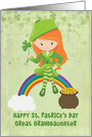 For Great Granddaughter St. Patrick's Day Girl on Rainbow card