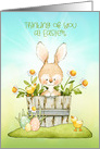 Thinking of You at Easter Bunny, Chicks and Daisies card