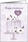Customize Year Wedding Anniversary with Cake card