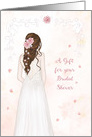 A Gift for Bridal Shower with Elegant Bride card