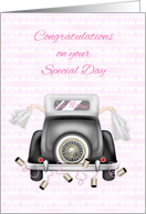 Lesbian, Just Married Congratulations card
