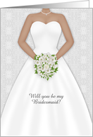 Wedding Party Invitation, Dark-Skinned Bride, Lace, Customizable card