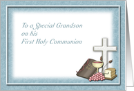 First Holy Communion Blessings, Congratulations Grandson card