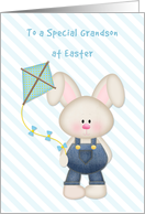 Bunny with Kite, Happy Easter Grandson card