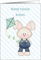 Bunny with Kite, Happy Easter Godson card