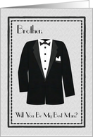 Tuxedo, Brother Best Man Invitation card