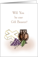 Chalice, Cross, Grapes, Gift Bearer Invitation card
