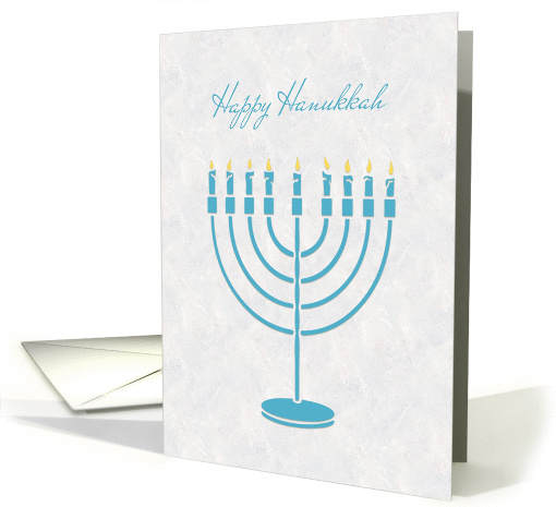 Blue Menorah, Happy Hanukkah card (1343840)