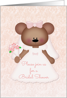 Cute Bear Bride, Bridal Shower Invitation card