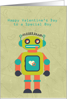 Cute Robot, Happy Valentine's Day, Special Boy card