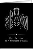 City Lights, Birthday for Employee card