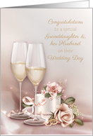 Granddaughter and Husband Wedding Congratulations card
