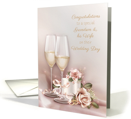 Wedding Congratulations, Grandson and Wife card (1357406)