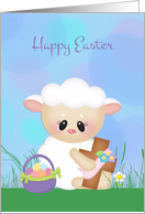 Happy Easter, Lamb with Cross card