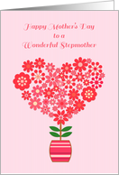Heart Flower, Mother's Day, Stepmother card