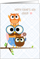 Owl Family, Father's Day for Daddy card