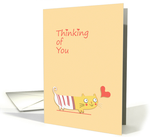 Thinking of You, Cute Cat, Heart card (1374162)